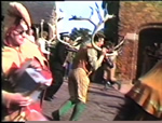 The Horn Dancers charge at Abbots Bromley